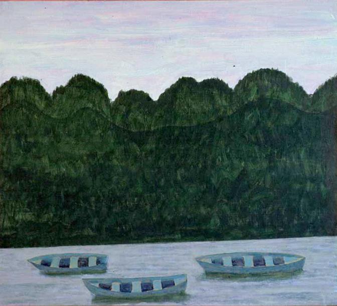 Ned för floden (Tillhör Göteborgs konstmuseum)